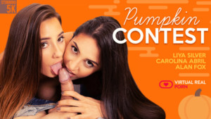 Pumpkin Contest VirtualRealPorn Carolina Abril Liya Silver vr porn video vrporn.com virtual reality