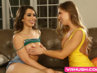 Spying Never Felt So Good VRHush Brittany Amber Joseline Kelly vr porn video vrporn.com virtual reality