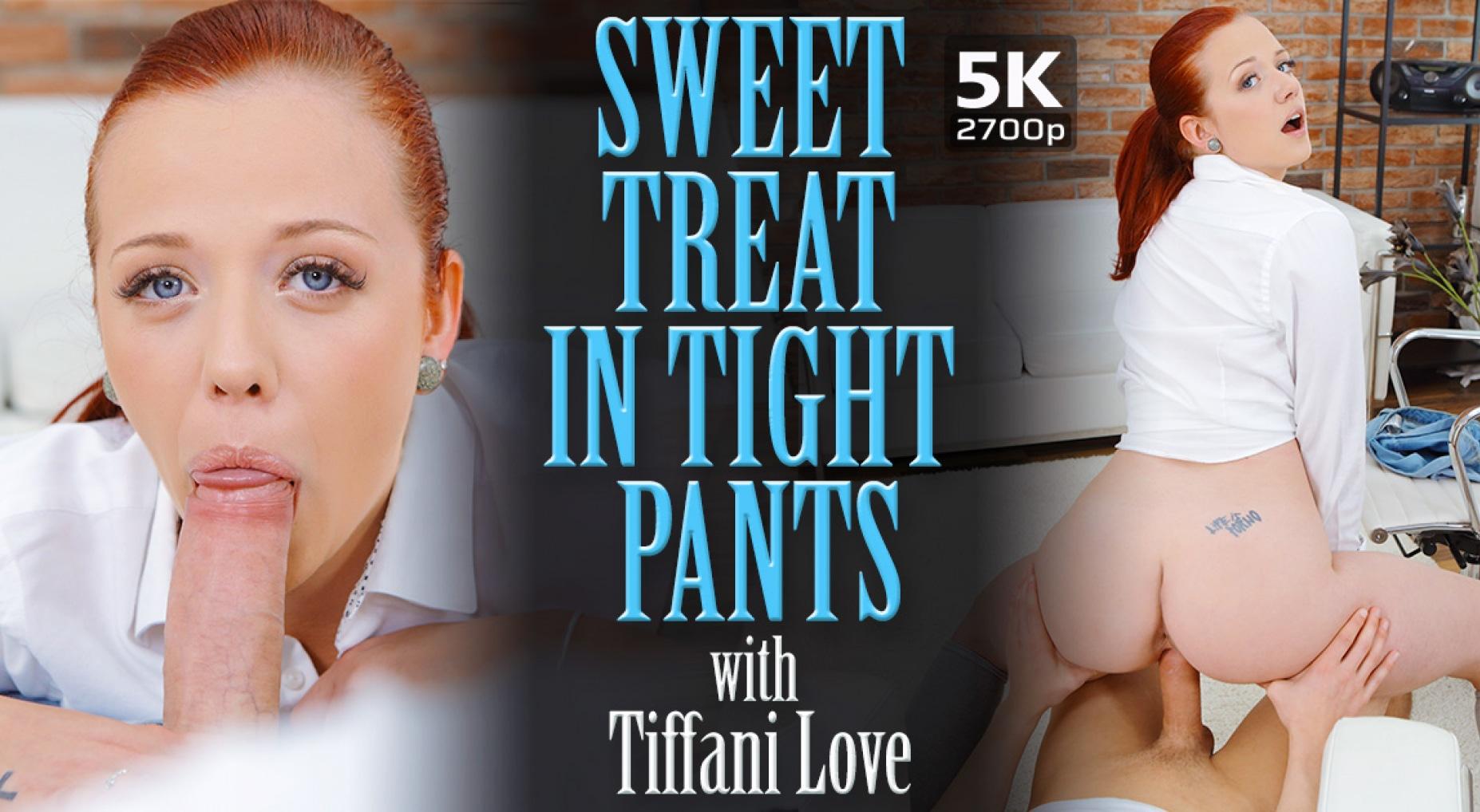 Sweet Treat In Tight Pants - Fair Skinned Redhead