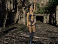 Jungle Queen Poses (CGI Ray Traced) SkinRays vr porn video vrporn.com virtual reality