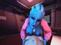 Mass Effect - Tittyfuck in Transit DarkDreams Liara vr porn video vrporn.com virtual reality