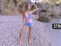 Life's A Beach StripzVR Melena Maria Rya vr porn video vrporn.com virtual reality