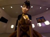 Flight Attention with Sexy Stewardess (CGI Cowgirl POV) SkinRays vr porn video vrporn.com virtual reality