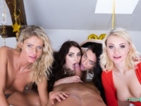 New Year's Fivesome CzechVR Marilyn Sugar Katy Rose Leanne Lace Claudia Mac vr porn video vrporn.com virtual reality
