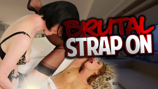 Brutal Strap On Its So Big FFStockings Alexis Crystal Julia vr porn video vrporn.com virtual reality