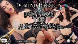 Popping the Champagne GroobyVR Domino Presley vr porn video vrporn.com virtual reality