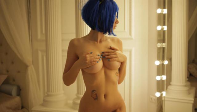 Blue Haired Beauty StasyQVR IngaQ vr porn video vrporn.com virtual reality