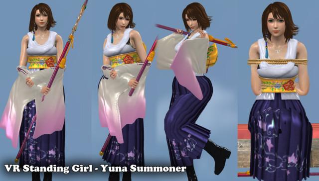 VR Standing Girl - Summoner Yuna myHTML5game vr porn game vrporn.com virtual reality