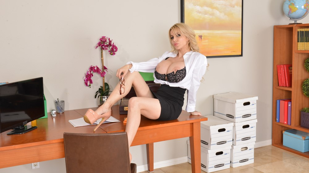 Danielle Derek's Boss Uses Her Big Tits And Every Single Hole On Her To Relieve Stress