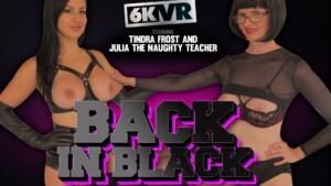 Back In Black The Stocking Girls Julia With Tindra Frost, The Scottish Milf FFStockings Julia Tindra Frost vr porn video vrporn.com virtual reality