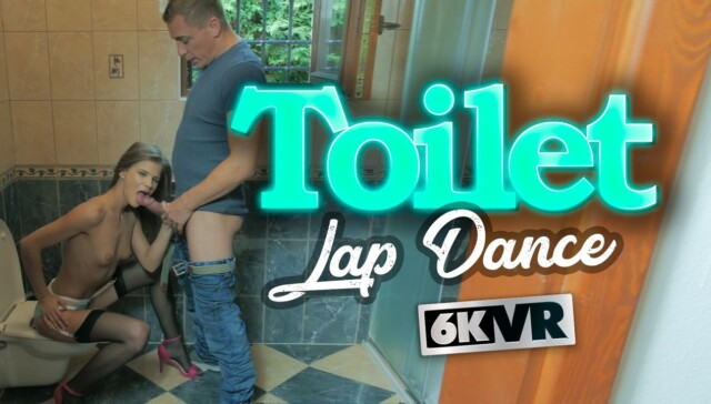 Toilet Lap Dance StockingsVR Sarah Kay vr porn video vrporn.com virtual reality