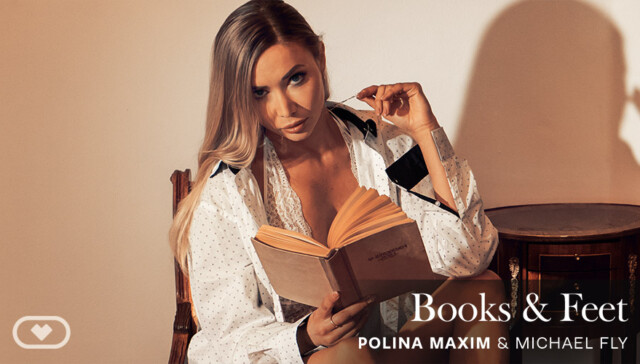 Books & Feet VirtualRealPorn Polina Maxim vr porn video vrporn.com virtual reality