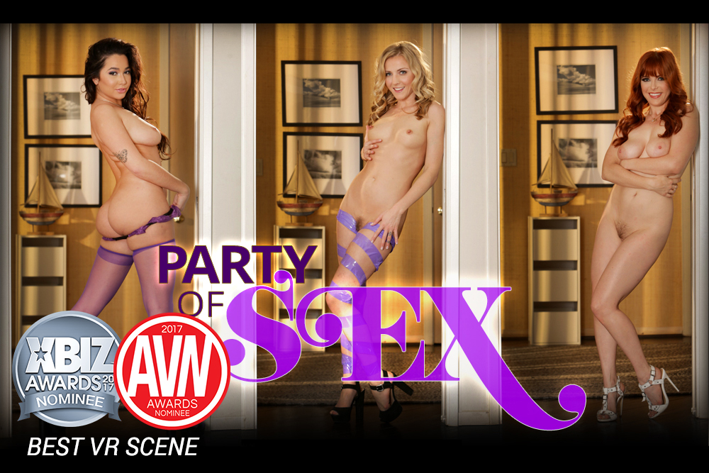 Party of Sex - 3 Hot Babes in Lingerie Fucked Silly