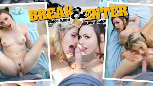 Break & Enter WANKZVR Alex Blake Khloe Kapri vr porn video vrporn.com virtual reality