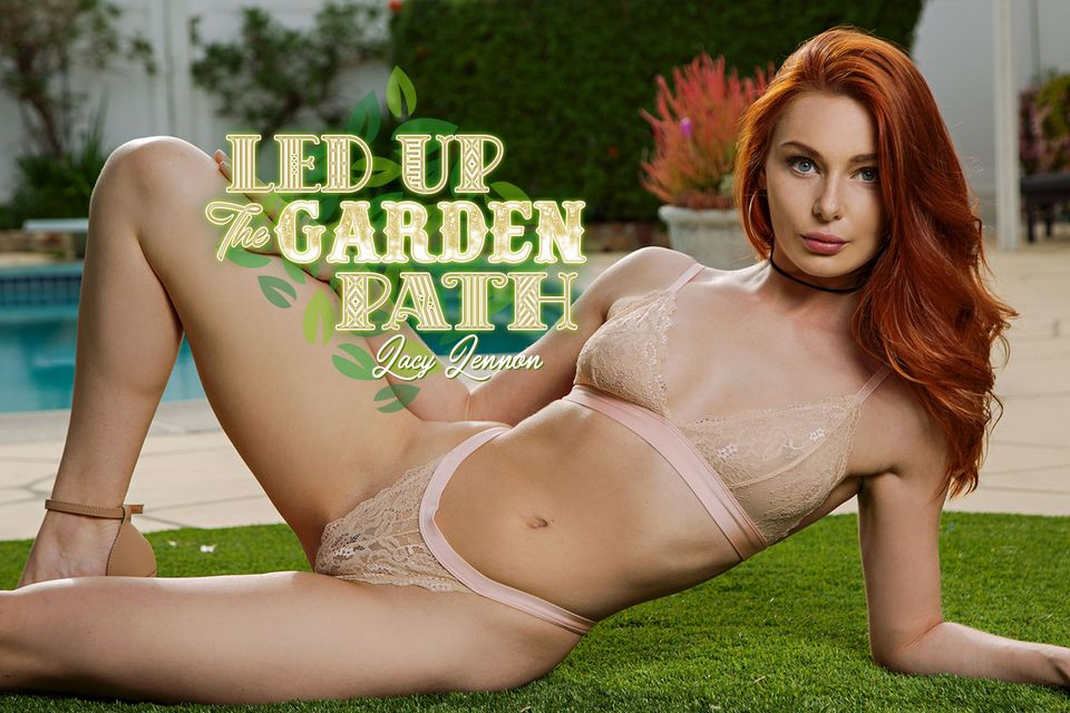 Led Up The Garden Path - Gorgeous Redhead
