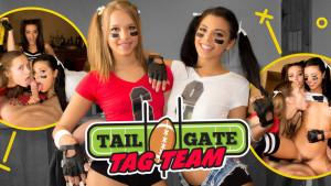 Tailgate Tag Team - Hot Babes at the Bar VR Orgy WANKZVR Kimber Woods Gina Valentine VR porn video vrporn.com