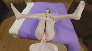Scarlet holding her legs up for you 3D VR 180 SBS VRWD vr porn video vrporn.com virtual reality