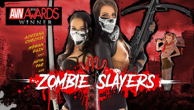 Zombie Slayers HologirlsVR Adriana Chechik Megan Rain Arya Fae VR porn video vrporn.com