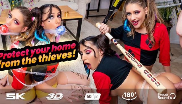 Hot Robbery 4 Home Alone RealJamVR Hime Marie vr porn video vrporn.com virtual reality