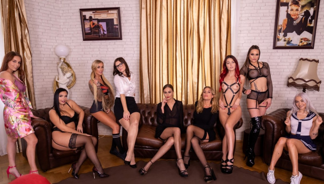 The Harlot's House Black Friday in Europe Part 1 VR Bangers Antonia Sainz Barbara Bieber Cindy Shine Daisy Lee Jenifer Jane Leidy De Leon Marilyn Sugar Tina Kay Sofia Lee vr porn video vrporn.com virtual reality