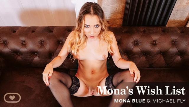 Mona's Wish List VirtualRealPorn Mona Blue vr porn video vrporn.com virtual reality