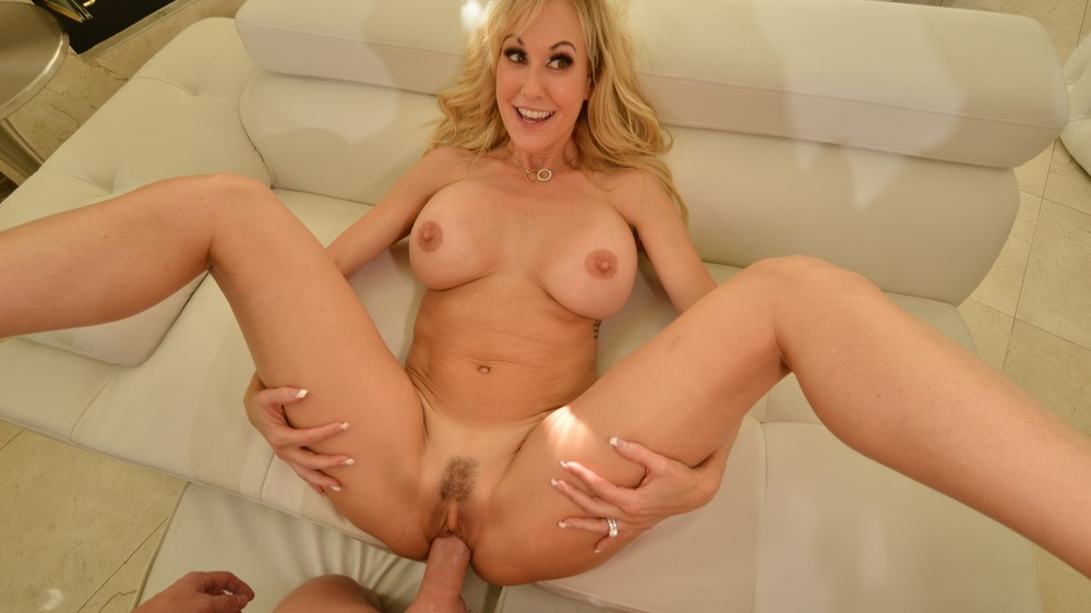 Your friend's busty mom Brandi Love get's her hands on your Cock!!