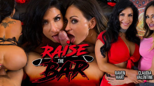Raise the Bar MILFVR Claudia Valentine Raven Hart vr porn video vrporn.com virtual reality