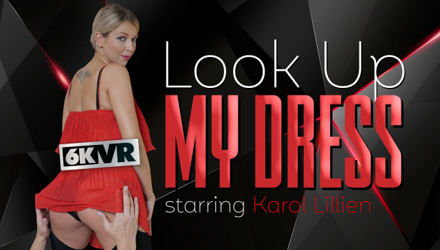Look Up My Dress StockingsVR Karol Lilien vr porn video vrporn.com virtual reality