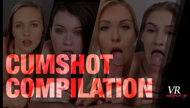 Cumshot Compilation VRedging vr porn video vrporn.com virtual reality