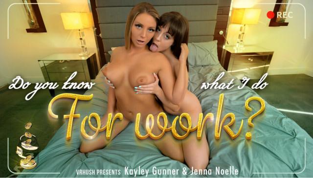 Do You Know What I Do For Work Jenna Noelle Kayley Gunner VRHush vr porn video vrporn.com virtual reality