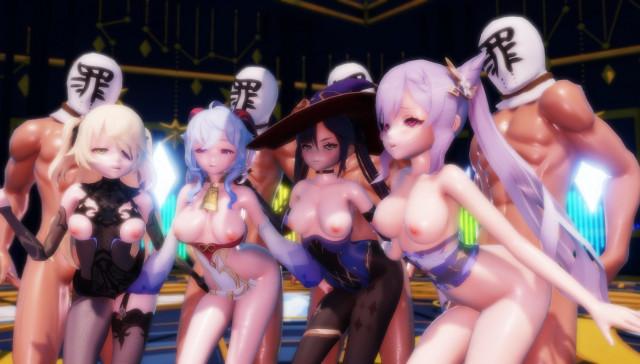 Genshin Impact - Group Dance & Sex Lewd FRAGGY vr porn video vrporn.com virtual reality