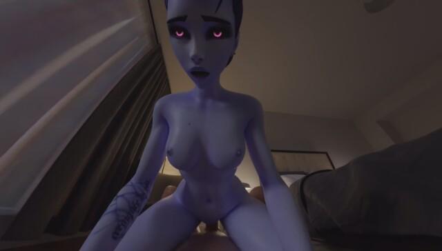 Widowmaker - Cowgirl riding RapidBananaCannon vr porn video vrporn.com virtual reality
