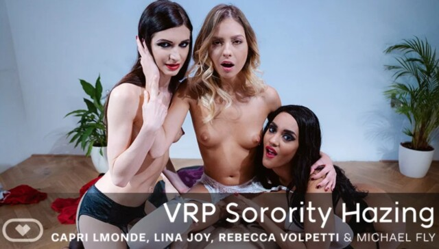 VRP Sorority Hazing VirtualRealPorn Capri Lmonde Lina Joy Rebecca Volpetti vr porn video vrporn.com virtual reality