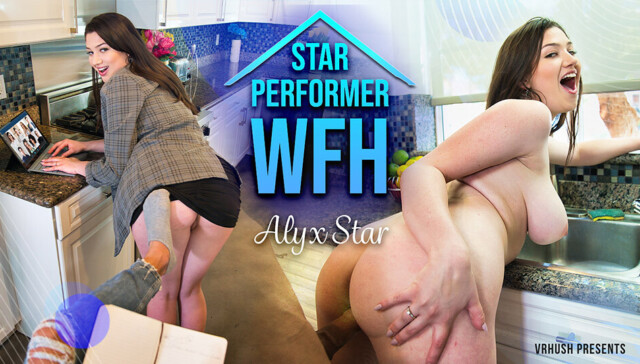 Star Performer WFH Alyx Star VRHush vr porn video vrporn.com virtual reality