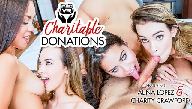 Charitable Donations WANKZVR Charity Crawford Alina Lopez vr porn video vrporn.com virtual reality