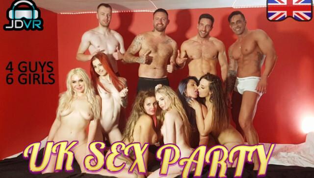 UK Sex Party (4 guys, 6 girls) Gina Varney Jessika Taylor JimmyDraws vr porn video